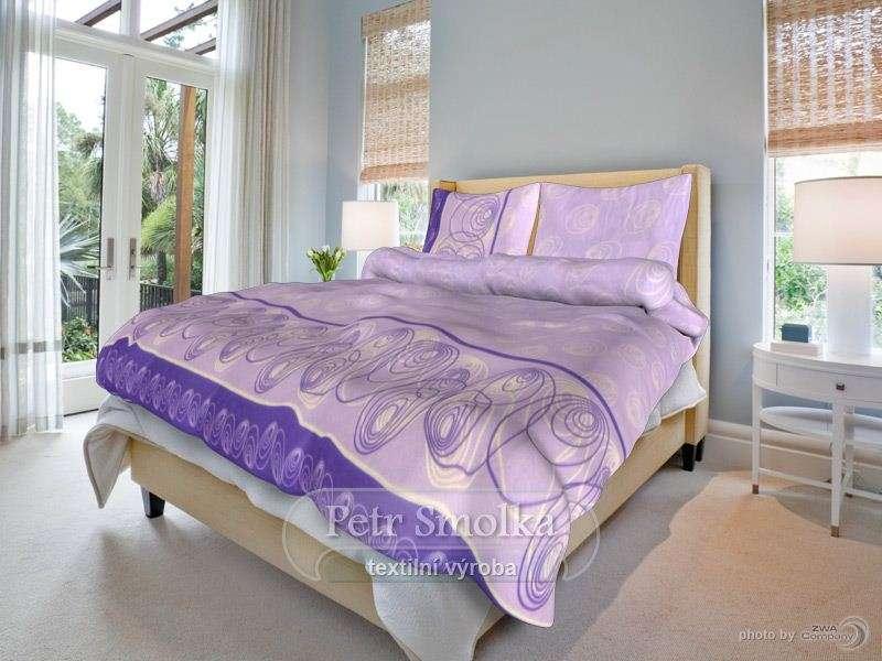 Bavlněné povlečení v jasných fialových barvách - Marcela lila smolka