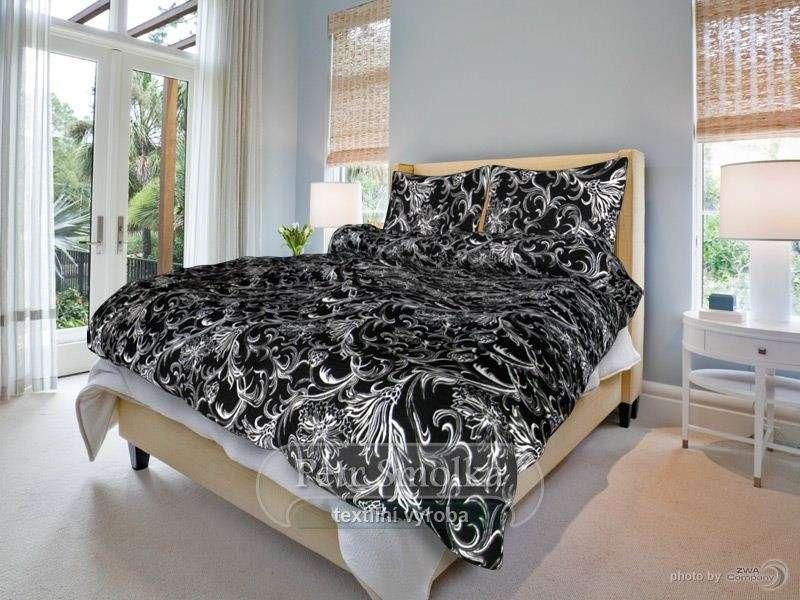Krásné moderní krepové povlečení černobílé barvy - Zuzana smolka