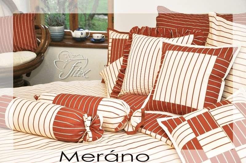 Kvalitní bavlněné povlečení selského stylu se zipovým uzávěrem Meráno Fitex