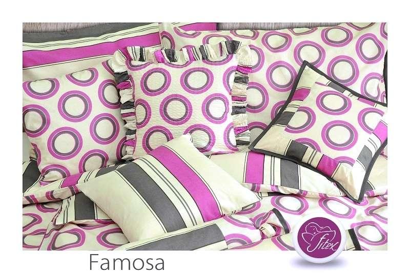 Kvalitní oboustranné krepové barevné povlečení se zipovým uzávěrem Famosa Fitex