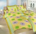 Povlečení v bavlně žluto-zelené barvy Prskavky zelené Dadka