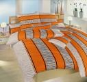 Bavlněné povlečení oražnové barvy s šeou Safari oranžové Dadka