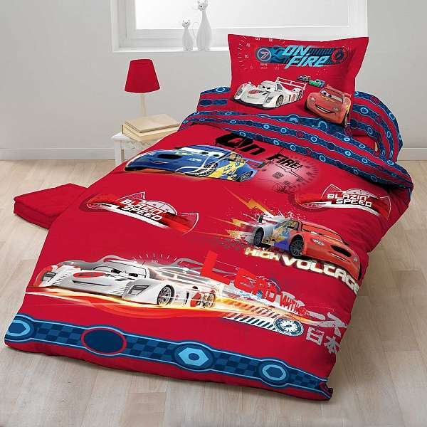 Červené povlečení s motivem Cars (auta) Jerry Fabrics