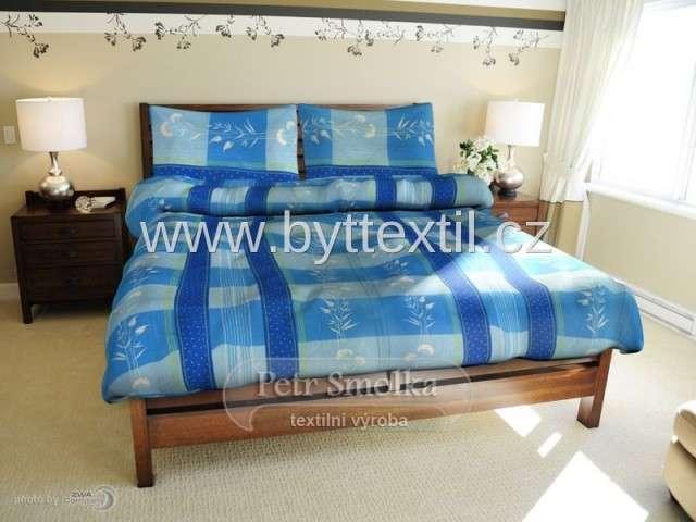 Bavlněné ložní povlečení v modré barvě francie Smolka