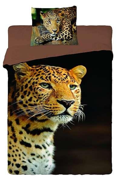 Dětské povlečení v bavlně s Leopardem Jerry Fabrics