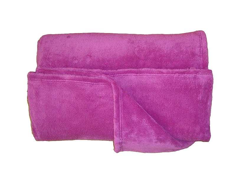 Žádaná chlupatková soft deka ostružinová barva Dadka