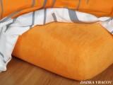 Froté prostěradlo pomerančové exclusive Dadka