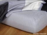 Froté prostěradlo - šedá B