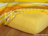 Froté prostěradlo - tmavě žlutá B
