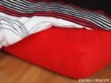 Jersey prostěradlo - červená C