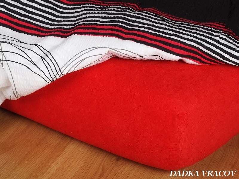 Jersey prostěradlo červené ohnivá Dadka
