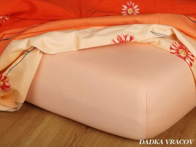 Kvalitní prostěradlo Jersey meruňkové Dadka