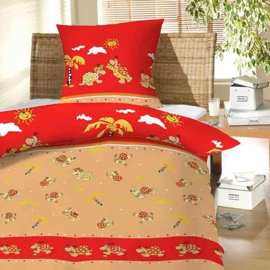 Povlečení bavlna do postýlky - Želvy červené Hybler textil