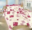 Velmi kvalitní bavlněné povlečení laděné do růžové barvy Dadka