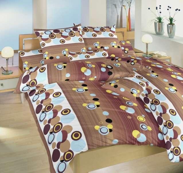 Kvalitní bavlněné povlečení hnědé barvy Karneval čokoládový Dadka