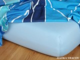 Jersey prostěradlo - světle modrá A Dadka