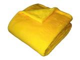 Žádaná chlupatková soft deka žlutá barva Dadka