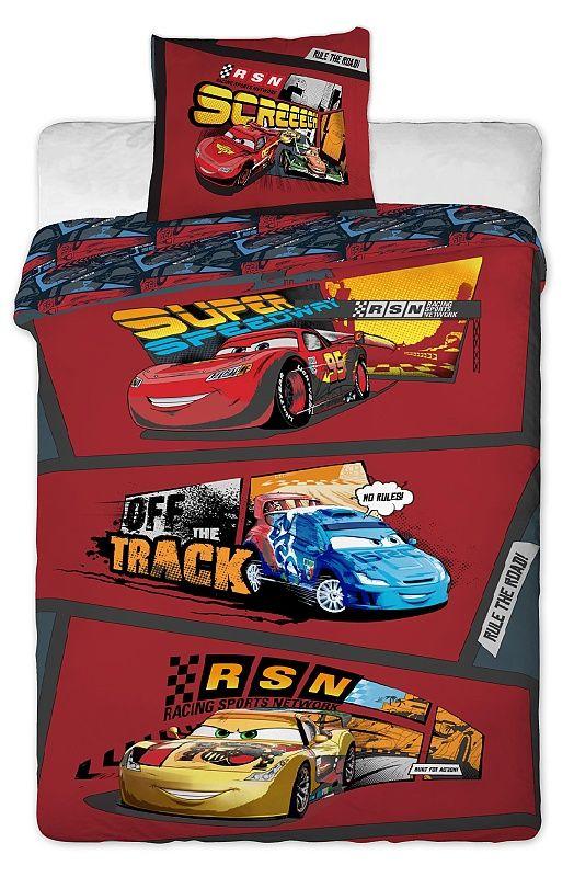 Dětské bavlněné povlečení Cars comics Jerry Fabrics