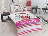 Dětské bavlněné povlečení s Hello Kitty s proužky Matějovský
