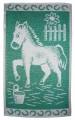Dětský ručník Koník tmavě zelený
