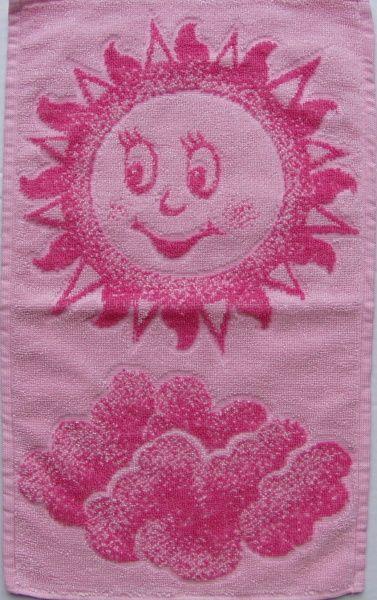 Dětský ručník - Sluníčko růžové Frotex