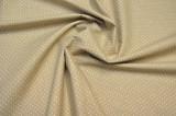 Bavlněné povlečení béžové barvy s puntíky fitex