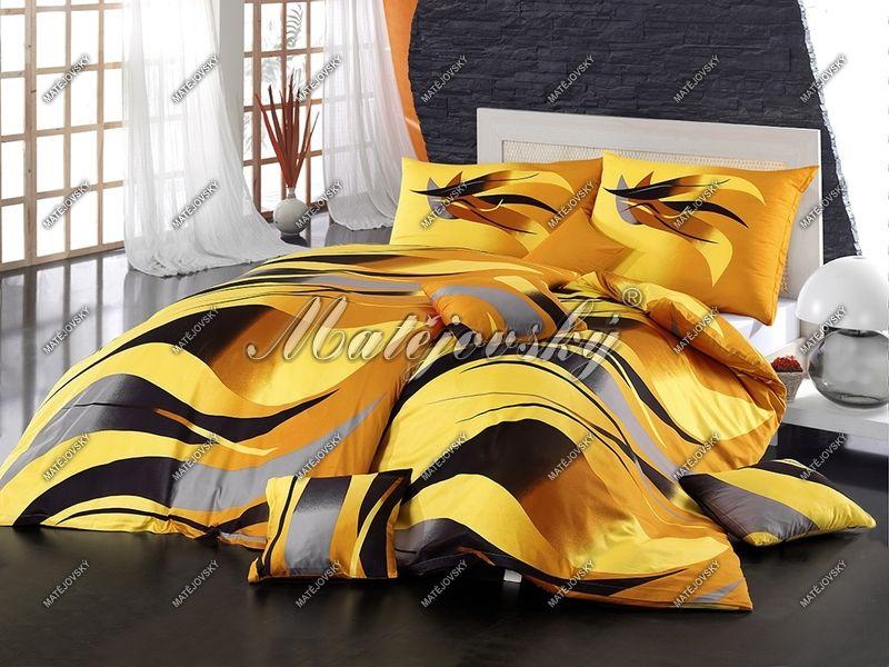 Bavlněné povlečení v zářivě žluté barvě Matějovský