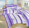Krepové povlečení Prskavky fialové