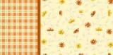 Bavlněné povlečení kytičky, kostičky oranžové Cyrus Fitex