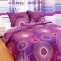 Luxusní saténové povlečení Bubliny fialové