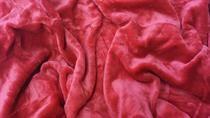 Mikroflanelové prostěradlo tmavě červené
