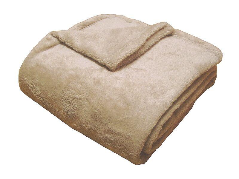 Super soft deka Dadka světle hnědá