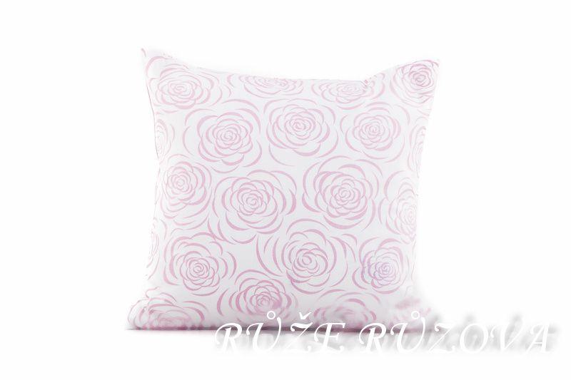 Povlak jednoduchý růže růžová perokreba s proužkem