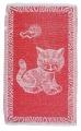 Dětský ručník Kotě červené