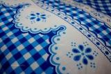 Bavlněné povlečení Kanafas kostička modrá český výrobce