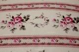 Polštář vlněný z vlněného včesu jednostranný s motivem růžiček a proužků