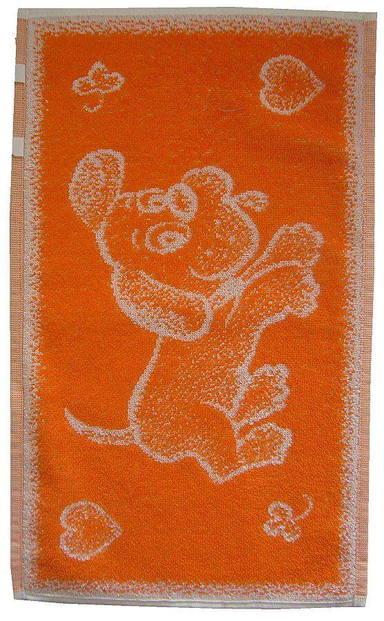Dětský ručník Pejsek oranžový Frotex