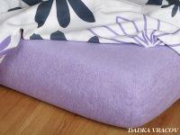 Napínací froté prostěradlo fialové luxusní Dadka