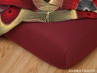 Jersey prostěradlo bordo super kvalita dobrá cena Dadka