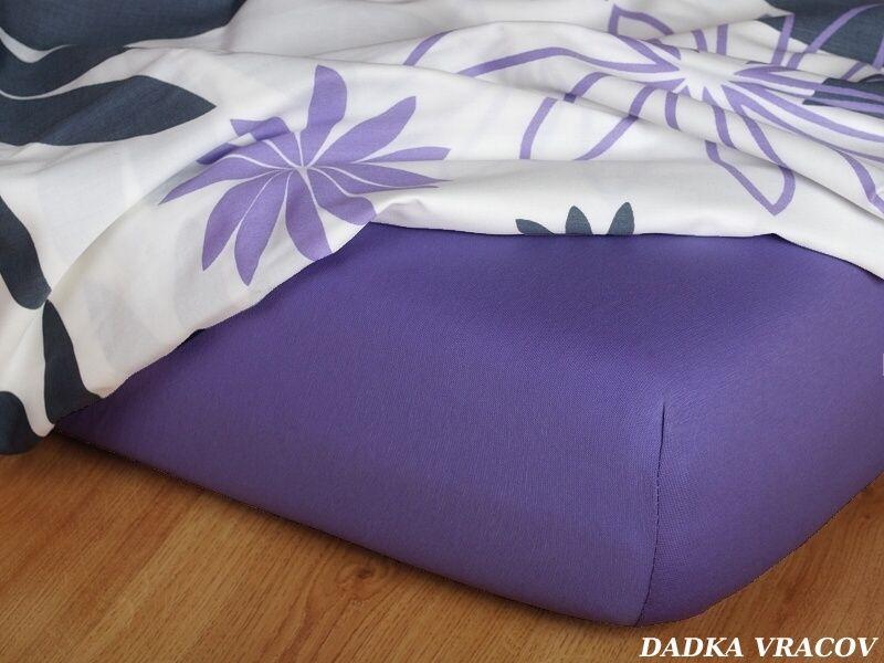 Kvalitní prostěradlo jersey ve fialové barvě v purpurovém odstínu Dadka
