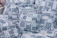Povlak jednoduchý WINTER PATCHWORK modrý