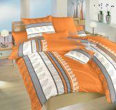Povlečení bavlna Jasany oranž