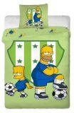Bavlněné povlečení Simpsons Bart a Homer 140x200 70x90