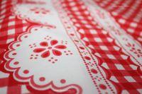 Bavlněné povlečení červená kostička kanafas český výrobce