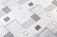 Bavlněné povlečení Patchwork s kombinací kytiček šedé barvy