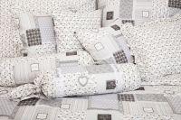 Povlak jednoduchý PATCHWORK DELUXE šedý