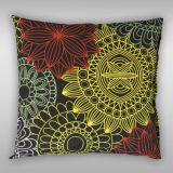 Bavlněné povlečení s barevnými kruhy připomínající květy na černém podkladu Kvalitex
