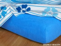 Kvalitní froté prostěradlo v modré barvě denim Dadka