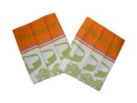 Utěrka Ba Extra savá 50x70 Bylinky oranžové/khaki 3 ks