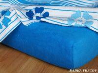 Froté prostěradlo královská modrá exclusive Dadka